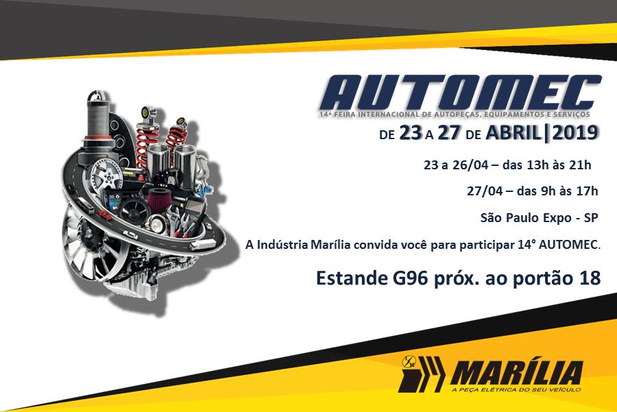 3312d202f71 Marília confirma presença na Automec 2019
